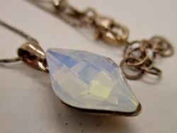 Csodálatos aranyozott ezüstnyaklánc opalit medállal új