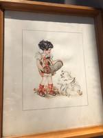 Hummel jellegű akvarell  II.