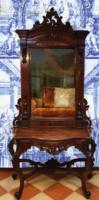 Barokk kastélytükör nagy méretű konzolasztallal