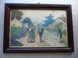 Nem azonosított festő aláírt alkotása