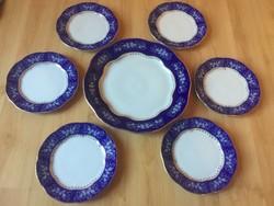 Zsolnay Pompadour II. süteményes készlet