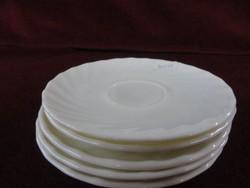 Francia porcelán, teás pohár alátét, fehér színben.
