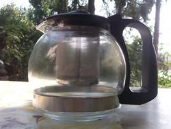 Új-Jénai kávé-tea kiöntő fémszűrővel 7,5 dl