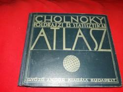 1934 antik könyv: Dr. Cholnoky Jenő : Földrajz és statisztika nagyszerű állapotban