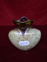 Német porcelán szív alakú fali virágtartó, mérete 9,5 x 9,5 cm.