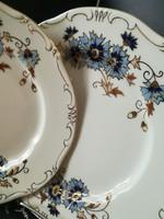 Zsolnay búzavirágos süteményes tányér