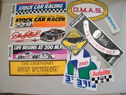 Retro autós, motoros amerikai levonós címkék