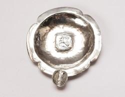 Perui, pénzérméből kalapált antik ezüst tálka.