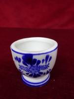 Holland porcelán pálinkás kupica, kobalt kék szélmalommal.