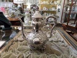 Ezüst barokk mokkás / kávés kanna