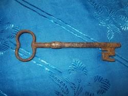 Antik nagyméretű vas kulcs 16cm