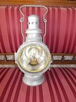 Antik mozdony lámpa,vasutas lámpa,alakjelző lámpa