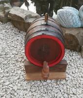 Fa boroshordó, hordó, Gyönyörű szőlő mintával, Gyűjtői darab, paraszti dekoráció