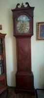 English mahogany standing clock c 1790