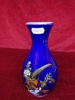 Kobalt kék japán váza, 19 cm magas. Eddig a vitrinben állt, gyönyörű.