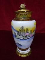 AEROZON japán minőségi porcelán petróleum lámpa.19 cm magas.