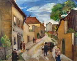 Kliené Róna Klára (1901-1987): Tabán Ív utca (1927).