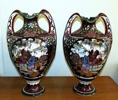 Kézzel festett japán váza- 1 pár