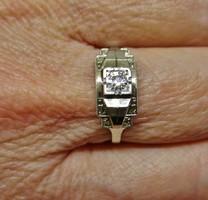 Gyönyörű, ritka antik art deco  platina és 18kt fehér arany gyűrű  gyémánttal Akció!!