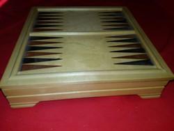 Retro fa társas játék SAKK Majong Go Dáma..kocka játékok míves szép állapotban tárolódobozban