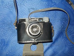Smena 8 szovjet filmes fényképezőgép tokjával