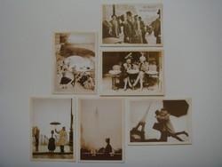 Régies képeslap vintage fotó 6 db