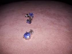 925 ös ezüst medál/ fülbevaló valódi tanzanit kővel