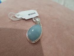 925 ös ezüst medál valódi akvamarin kővel