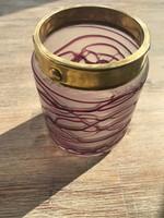 Szecessziós, Art Nouveau Poschinger üveg váza