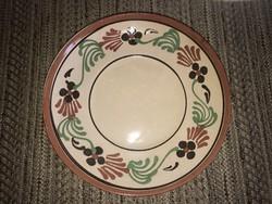 Mázas fali tányér (Városlődi, jelzetlen)