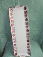 Hüttl Tivadar rózsás porcelán süteményes tál