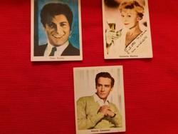 Régi Jugoszláv csokoládés papír címke  dedikált színész  képekkel a képek szerint