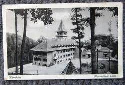 Régi képeslap Mátraháza honvédtiszti üdülő. 1942.