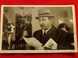 Antik fotó képeslap Benedekfi János rádió bemondó 1910 a  képek szerint