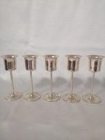 Ezüst likőrös pohár készlet 5 db