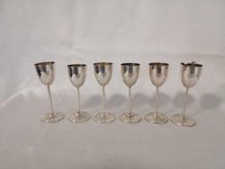 Ezüst likőrös pohár készlet 6 db