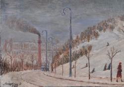 Mészáros Jenő (1883- ?): Téli Tabán