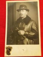 Antik fotó képeslap Portré a szegedi Székely műteremből a képek szerint 3