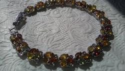 Többszínű zafír 925 ezüst karkötő