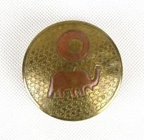 0Z689 Régi elefántos réz keleti tároló kenőcsös tégely
