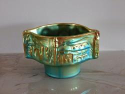 Zsolnay eozin Art Deco kaspó