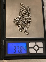 52cm hosszú vastag ezüst nyaklánc