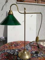 Asztali réz lámpa könytári vagy banklámpa. Akció!, leráztam!