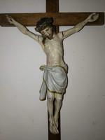 Jézus korpusz  kereszt feszület fa régi darab