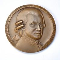Mozart múzeumi emlékérme, ritka változat.
