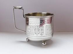 Orosz ezüst teás pohár. 1887