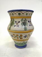Gorka,rákos kerámia váza