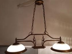 2 karú szecessziós stílusú porcelán lámpa étkezőbe