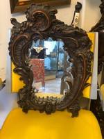 Bécsibarokk tükör csiszolt metszett tükörrel