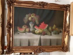 Nándory Sándor :asztali gyümölcs csendélet